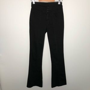 We the Free FP Black High-Waisted Flare Jeans 25
